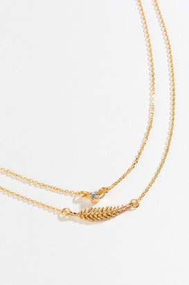 francesca's Ava Leaf Layered Choker - Gold