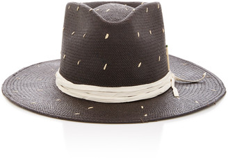 Nick Fouquet Rain Dog Ribbon-Trimmed Straw Hat