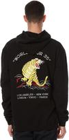 Stussy Tiger Fleece Mens Hood Black