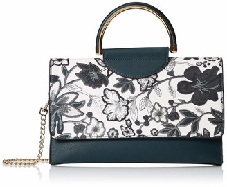Mellow World Women's Primerose Hb27228 Vegan Leather Flower Pat Cb with Top Handle Mag Snap Closure