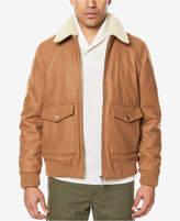 Sean John Men's Bomber Jacket with Fleece Collar