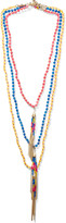 Rosantica Set of three gold-tone quartz necklaces