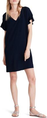 Madewell Ruffle-Sleeve Easy Dress