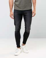 Cheap Monday Jeans Mid Spray Extreme SuperStretch Skinny Fit Worn Gray