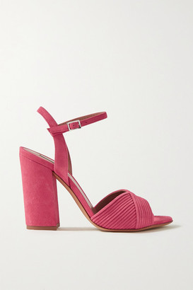 Tabitha Simmons Kali Suede Sandals - Bright pink