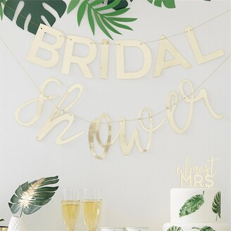 Ginger Ray Botanical Shower Bridal Shower Gold Bunting
