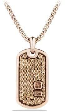 David Yurman Pave Tag With Diamonds In 18K Rose Gold