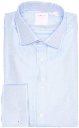 Thomas Pink Herringbone Classic Fit Dress Shirt