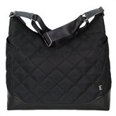 OiOi Black Diamond/Leather Trim Quilted Hobo