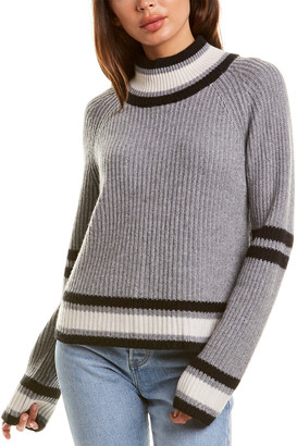 Autumn Cashmere Boxy Mock Cashmere & Wool-Blend Sweater