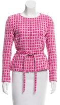 Chanel Belted Patterned Blazer