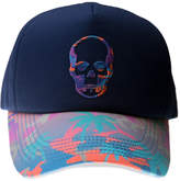 Lucien Pellat-Finet Skull Embroidered Cap