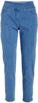 Ruby Rd. Women's Casual Pants Chambray - Chambray Extra-Stretch Jeggings - Petite & Plus