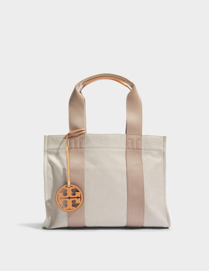 Tory Burch Miller Canvas Tote Bag in Natural Canvas