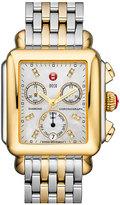 Michele Women's 'Deco' Diamond Dial Two-Tone Watch Case, 33Mm X 35Mm