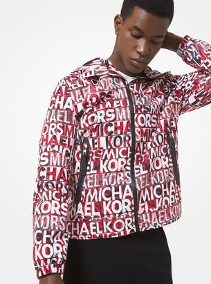 Michael Kors Graphic Logo Print Hooded Jacket