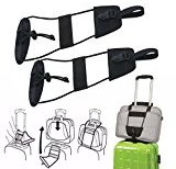 2pcs Add A Bag Strap Luggage Suitcase Adjustable Belt Carry On Bungee Travel