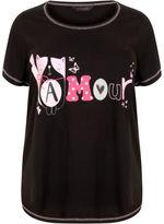 Yours Clothing YoursClothing Plus Size Womens Ladies Top Sleepwear Pyjama Nightwear