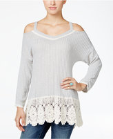 Style&Co. Style & Co. Petite High-Low Cold-Shoulder Top, Only at Macy's