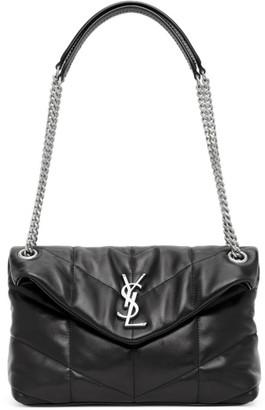 Saint Laurent Taupe Small Loulou Bag