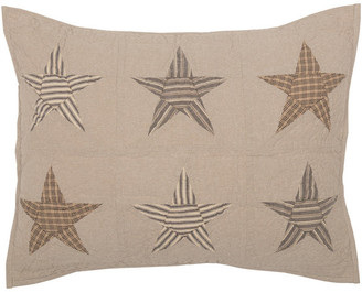 Sawyer Mill Star Charcoal Standard Sham 21x27