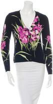 Blumarine Long Sleeve Floral Cardigan