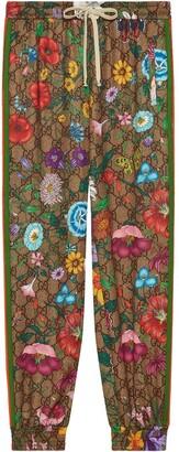 Gucci Flora GG Supreme pattern track pants