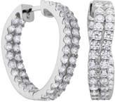 JCPenney FINE JEWELRY DiamonArt Cubic Zirconia Sterling Silver Twist Inside-Out Hoop Earrings