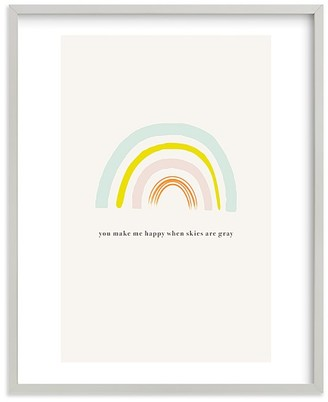 Pottery Barn Kids You Make Me Happy Wall Art by Minted
