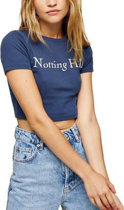 Topshop Notting Hill Crop Graphic Tee