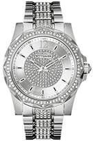Wittnauer Men's Chevron Crystal Accent Stainless Steel Bracelet Watch WN3013