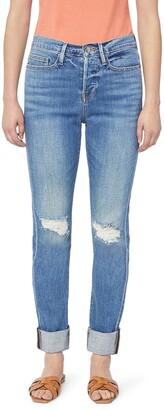 Frame Le Beau Ankle Straight Leg Boyfriend Jeans