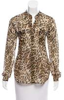 L'Agence Leopard Printed Blouse
