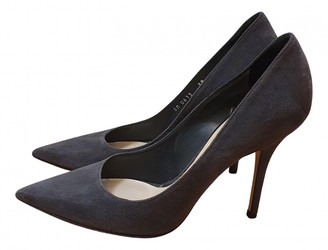 Christian Dior Anthracite Suede Heels