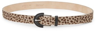 Lafayette 148 New York Leopard Calf Hair Leather Belt