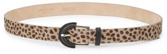 Lafayette 148 New York Leopard Calf Hair Leather Belt