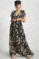 Forever 21 Floral Wrap Maxi Dress