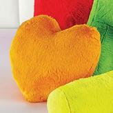 WholeHome Faux-Fur Heart Cushion