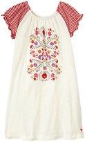Pink Chicken Edie Tulum Dress (Toddler/Kid) - White w/Graphic-6 Years