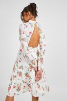 boohoo Boutique Isla Floral Long Sleeve Skater Dress