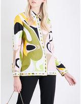 Emilio Pucci Abstract graphic-print silk-twill shirt