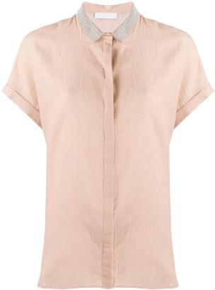 Fabiana Filippi Rhinestone Collar Relaxed-Fit Shirt