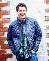 Jacamo Navy Vancouver Quilted Jacket Long