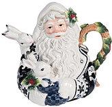 Fitz & Floyd Bristol Holiday Santa Tea Pot
