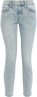Current/Elliott The Stiletto Cropped Faded Low-rise Skinny Jeans