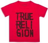 True Religion Boys' Chalk Letter Logo Tee