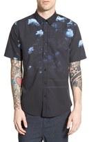 Ezekiel 'Blackout' Trim Fit Short Sleeve Print Woven Shirt