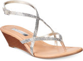 INC International Concepts Women's Mayca2 Strappy Wedge Sandals, Created for Macy's Women's Shoes