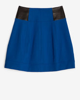 Yigal Azrouel A Line Leather/jersey Skirt