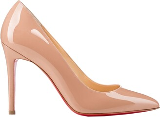 Christian Louboutin Nude Patent Leather Pumps